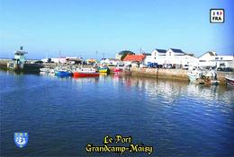 Set 6 Cartes Postales, Ports, Harbors Of Europe, France (Calvados), Grandcamp-Maisy - Schiffe