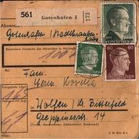 ! 1942 Paketkarte Deutsches Reich, Gotenhafen Nach Wolfen - Covers & Documents