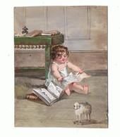 AQUARELLE Sur Cartoline_enfant  En Lecture Dechirante - Prints & Engravings