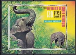 Guinea Equatoriale 1976 Sc. 74101 Elefante Elephant  Sheet Perf. CTO Proteccion De La Naturaleza Asia - Guinea Equatoriale
