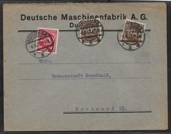 1923 Dt.Reich Mi. 271(2), 269 - LOCHUNG PERFIN - DEUTSCHE MASCHINENFABRIK A.G - DUISBURG N. DORTMUND - Covers & Documents