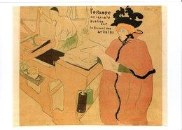 """CPM FRANCE NEUVE 1991 - """"COUVERTURE DE L'ESTAMPE ORIGINALE"""" DE HENRI DE TOULOUSE-LAUTREC, 1893 - - Peintures & Tableaux"""