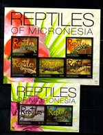 MICRONESIA, 2011,REPTILES, S/S+  M/S, MNH** - Reptiles & Batraciens