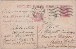 8619.  Cartolina Postale Intero - S. Angelo Lodigiano Lodi Milano - Padova - 1922 - 1900-44 Victor Emmanuel III