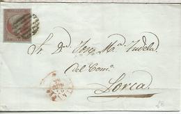 ENVUELTA ISABEL II 1856 A LORCA MURCIA CON LLEGADA - Briefe U. Dokumente