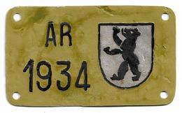 Velonummer Appenzell Ausserrhoden AR 34 - Plaques D'immatriculation