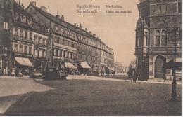 CPA Saarbrücken - Marktplatz / Sarrebruck - Place Du Marché - Saarbruecken