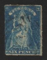 1858, Australia Victoria 6 Pence, Used, Sc 30, Mi 12 - Oblitérés
