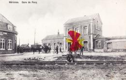 HERINNES - Gare De PECQ - Carte Animée Et Circulée En 1911 - Pecq