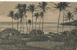 Barbados  Martin's Bay No 53 P. Used 3 Stamps To New York - Barbades