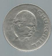 Médaille CHURCHILL - Elizabeth II Dei Gratia Regina - 1965  -   Pieb22310 - Royaux/De Noblesse