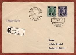 Einschreiben Reco, Charlotte Mit Aufdruck, Septfontaines Simmern Nach Camburg 1940 (89455) - Luxemburg