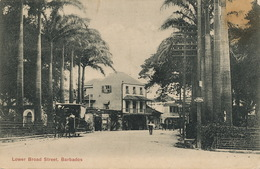 Barbados  Lower Broad Street  Horse Tram  .Tramway  P. Used To Habana Cuba - Barbades