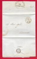 PREFILATELICA PONTIFICIO - 1852 Lettera Con Testo CIVITACASTELLANA COLLEVECCHIO - Franchigia Direzione Postale - Italia
