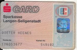 GERMANY - Sparkasse Langen-Seligenstadt Bank, Eurocheque, Used - Tarjetas De Crédito (caducidad Min 10 Años)