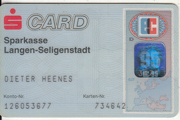 GERMANY - Sparkasse Langen-Seligenstadt Bank(reverse G&D), Eurocheque, Used - Tarjetas De Crédito (caducidad Min 10 Años)