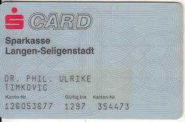 GERMANY - Sparkasse Langen-Seligenstadt Bank, 01/93, Used - Tarjetas De Crédito (caducidad Min 10 Años)