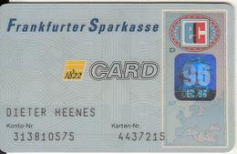 GERMANY - Frankfurter Sparkasse Bank, Eurocheque, Used - Tarjetas De Crédito (caducidad Min 10 Años)