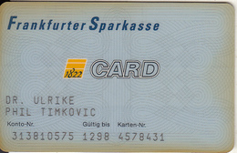 GERMANY - Frankfurter Sparkasse Bank, 04/95, Used - Tarjetas De Crédito (caducidad Min 10 Años)