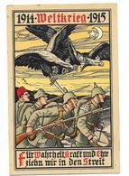 GUERRE 1914-18 Carte Patriotique Illustrée Allemande Welt Krieg - Weltkrieg 1914-18