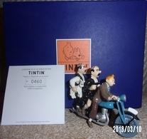 Tintin Dupondt Moto Figurine Pixi N°400 Série Limitée 2500 Ex. - Statuettes En Métal