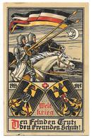 GUERRE 1914-18 WENZEL Carte Patriotique Illustrée Allemande Welt Krieg - Guerra 1914-18