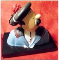 Tintin Buste Dupont Marin Leblon Delienne 1988 Tirage Limité 1100 Exemplaires - Statuettes En Résine