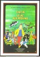 Carte Postale : Tintin Et Le Lac Aux Requins (film Cinéma Affiche) Illustration Hergé - Hergé