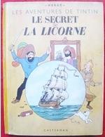 Tintin Secret Licorne B1 1946 Papier épais - Dos Jaune - Pull Haddock 2 Couleurs Tirage Limité. - Tintin