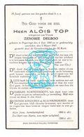 DP Alois Top ° Poperinge 1866 † 1947 X Zenobie Delboo - Andachtsbilder
