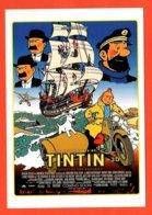 Carte Postale - Illustration : Hergé (affiche, Film, Cinéma) Tintin Et Le Secret De La Licorne - Hergé