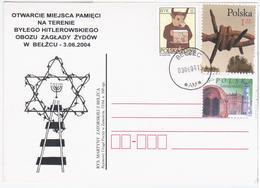 Poland Polska 2004 Belzec, Opening Of The Memorial At The Former Nazi Extermination Camp, Judaica Jew Jews - Ganzsachen