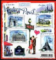 2010 France - Capitals Of European Lands Paris MS MNH**  MiNr. 4989 - 4992 (Block 142) CEPT Hang On - France