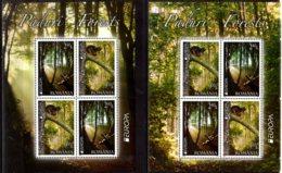 2011 Romania - Europa CEPT Forests   MNH** MI 7207/7208 Deers, Trees, Squeerel, - 1948-.... Repúblicas