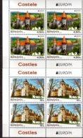 2017 Romania - Europa CEPT - Castles - Set In Blocks Of 4 Each - From Sheetlets!  MNH** MI 7207/7208 - 1948-.... Republiken