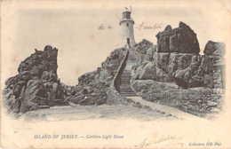Ile De JERSEY Le Phare De Corbière Light House + Cachet Linéaire Paquebot + Cachet Grand Hotel Palais De Cristal - Jersey