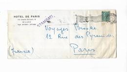 1955 ITALIE HOTEL DE PARIS MILANO  - CACHET STAMPATI - Marcophilie - EMA (Empreintes Machines)