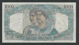 FRANCE 1000 FRANCS 1945 ''Minerve Et Hercule'' GEM UNC - 1871-1952 Circulated During XXth