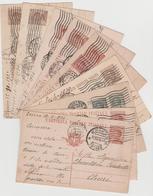 8627 Eb.  9 Cartoline Postale Intero -  Chieri Torino - Dal 1923 Al 1930 - 1900-44 Victor Emmanuel III