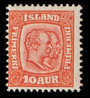 Iceland - 1907-08 - 10a Yv.52 - MH - Neufs
