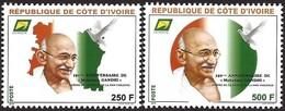 Côte D'Ivoire Ivory Coast 2019 Mahatma Gandhi Peace Dove Mint Set - Gezamelijke Uitgaven