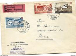 79 - 56 - Enveloppe Exprès Avec Superbe Cachets à Dte Scharnachthal - Timbres Pro Patria 1946 - Brieven En Documenten