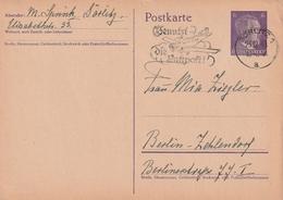 """Deutsches Reich / 1941 / Masch.-Stempel Goerlitz """"Benutzt Die Luftpost"""" Auf Postkarte (4507) - Deutschland"""