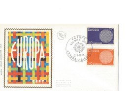 FDC Andorre Europa YT 202/203   2 Mai 1970 - FDC