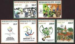Côte D'Ivoire Ivory Coast 2017 Francophone Games Traditional Danse Culture Mint Set - Côte D'Ivoire (1960-...)
