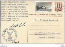 93 - 73 - Entier Postal Envoyé De Burgdorf En Allemagne Zone Américaine 1947 - Censure - Ganzsachen