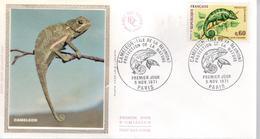 FDC - Enveloppe 1er Jour - CAMELEON - 6 NOV 1971 - PARIS - FDC