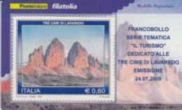 TESSERA FILATELICA VALORE 0,6 EURO TRE CIME DI LAVAREDO (FY682 - Philatelic Cards