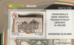 TESSERA FILATELICA VALORE 0,6 EURO MOLISE (FY689 - 6. 1946-.. Repubblica