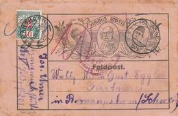 "Schweiz / 1916 / Nachportomarke Auf Int. Feldpostkarte ""VIRIBUS UNITAS"" (4517) - Portomarken"